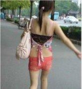 女人上街什么都敢穿啊